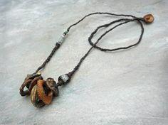 Grey Bird Studio - lichen rock necklace