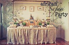 african-safari-birthday-party-ideas-how-to-jungle-zeebra-book-cake-dessert-table-boy-girl | Para el Bebé