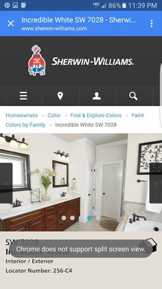 Incredible white Sherwin-Williams