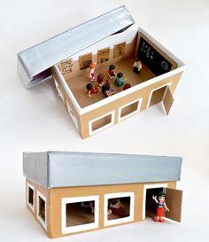 Fotogalerie: Tvoření rozvíjí fantazii. Vyrobte s dětmi krásný domeček z obyčejné krabice