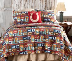 The Cowboy Way Bedding Collection Western Bedding, Farmhouse Master Bedroom, Western Homes, Bedding Collections, Shabby Chic, Quilts, Modern, Design, Trendy Tree