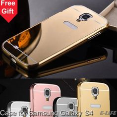 For Samsung Galaxy S4 A3 A5 A7 2016 A310 A510 A710 Case Luxury Aluminum Metal + Mirror Battery Phone Back Cover for Samsung S4
