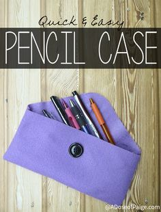 Cute school pencil case, to keep your pens, tape, erasers, pencils, glue and all of your school essentials