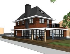 Jaren 30 woning - Bongers Architecten BNA Black Windows, Sims House, Future House, Home Projects, Bungalow, Sweet Home, House Design, House Styles, Building