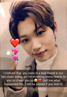 ❥A book with Stray Kids Oneshots, Imagines; Reactions, Zodiacs and WYR's - Have fun reading! Started : April 2018 - in Random] - in Random] - in Random] - in Random] - in Random] - in Random] Boyfriend Kpop, Boyfriend Texts, Snap Text, Kids Snapchat, Bts Snapchats, Savage Kids, Felix Stray Kids, Kid Memes, Cheer You Up