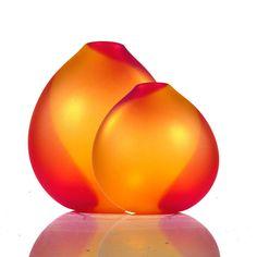 Strawberry Saffron Drop Vase  by tsunami glassworks - for the colors