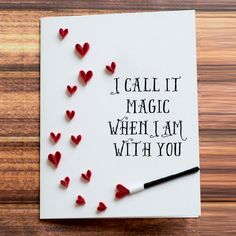 Greeting Card I Call It Magic When Am With You Heart Shower Quilled Art To Frame Husband Wife Birthday Present Idea For Engaged Couple