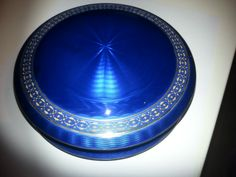 Guilloche enamel extremely  big ! silver box by David Andersen (Norway) Former collection