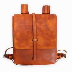 Minimalistick Backpack – Rucksack aus Leder von Ilundi Design