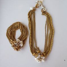Rare signed  DeMario Necklace and Bracelet with by PansyBelleAttic, $375.00