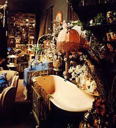 Bath display in Art Deco-style Biba store, 1970s.