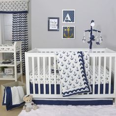 Found it at Wayfair - Sail Away 4 Piece Crib Bedding Set