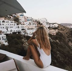 @chelseacunningham wearing the Bond One Piece in Greece