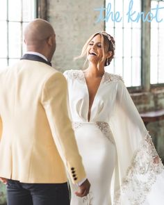 American Idol alum Pia Toscano married Jimmy R.O. Smith in a stunning silky wedding dress designed by Michael Costello.