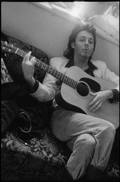 """"""" Paul in Scotland during recording sessions for 'Back To The Egg'. Photo by Linda McCartney. Sir Paul, John Paul, Happy Birthday Paul, Sister Birthday, Paul And Linda Mccartney, Paul Mccartney Guitar, Heather Mccartney, James Mccartney, Paul Martin"""