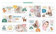 Baby store sale banners set - cute fores... | Premium Vector #Freepik #vector #banner #sale #baby #kids Shop Banner Design, Banner Design Inspiration, Inspiration For Kids, Kids Store, Baby Store, Kids Web, Education Banner, Retro Logos, Vintage Logos