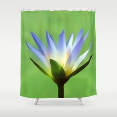 Blue Lotus Blossom Shower Curtain by Makanahele - $68.00