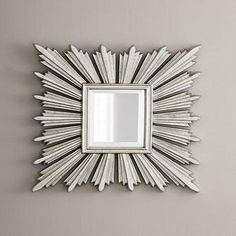 Shop Silver-Leafed Sunburst Mirror at Horchow, where you'll find new lower shipping on hundreds of home furnishings and gifts. Hallway Mirror, Sun Mirror, Mirror With Shelf, Floor Mirror, Silver Sunburst Mirror, Starburst Mirror, Neiman Marcus Sale, Walk In Closet Inspiration, Spiegel Design