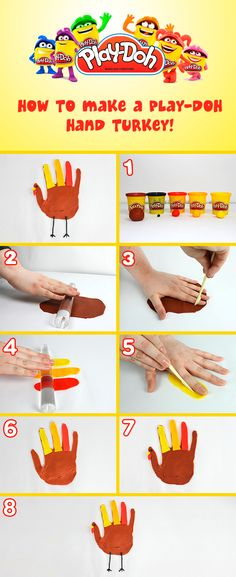 How to make a Play-Doh Hand Turkey!