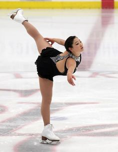 Mirai Nagasu, Ladies short at U.S. International Classic 2014, Black Figure Skating / Ice Skating dress inspiration for Sk8 Gr8 Designs