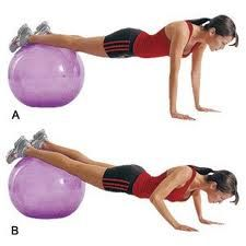 Super Stability Ball Circuit Fitness...Ive got to get a stability ball at home!