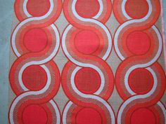 FABRIC original 1970s / retro vintage circels / by dutchdetails, €20.00