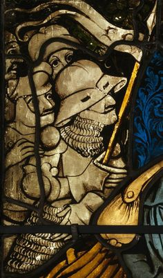 Burrell Collection Boppard windows, appearing in the Agony in the Garden, Christ before Pilate and Resurrection panels