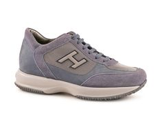 Hogan Interactive men sneakers in blue suede leather - Italian Boutique €172