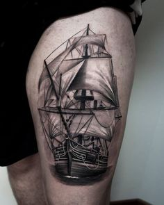 thigh tattoo designs (87)
