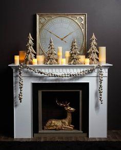 Christmas Mantel Decor Inspiration Pics Fireplace Mantels Decor