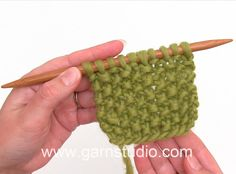 How to knit moss stitch /seed stitch back and forth