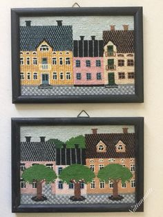 My cross stitch houses from the 80's