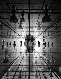 Yale Joel for LIFE - Ervand Kogbetliantz, Three-Dimensional Chess, 1952. S)