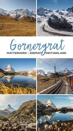 Gornergrat, Schweiz, Matterhorn, Zermatt, Riffelsee Zermatt, Places In Switzerland, Switzerland Vacation, Cool Places To Visit, Places To Travel, Travel Music, Swiss Alps, By Train, Secret Places