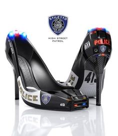 These shoes were made for walking the thin blue line