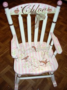 Personalized Handpainted Rocking Chairs Childrenu0027s Furniture By Jane Marie