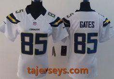 Women Nike San Diego Chargers 85  Antonio Gates White Nike NFL jersey 29e25f246