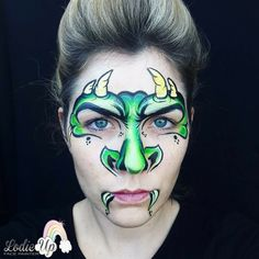 Dinosaur Face Painting, Monster Face Painting, Dragon Face Painting, Face Painting For Boys, Face Painting Designs, Animal Face Paintings, Fair Face, Dragons, Body Picture