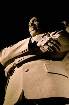Martin Luther King, Jr. Memorial, Washington D.C. — by Tami Littlejohn. The monument at night.
