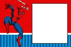 Boa ideia de fundo para a arte da lembrancinha. Vários printables Site: Montando a minha festa: Homem aranha