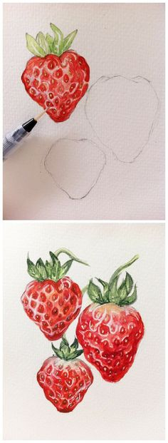 New fruit drawing pencil sketches illustrations 50 ideas Painting & Drawing, Watercolor Paintings, Watercolors, Colour Drawing, Pencil Drawing Tutorials, Art Tutorials, Drawing Ideas, Drawing Tips, Fruits Drawing