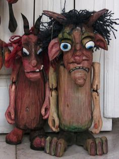 MANICKA 3 wooden marionettes HURVINEK handmade from CZECH REPUBLIC SPEJBL