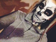 """I used the Makeup Forever Flash palette, some setting powder and thin eyeliner brushes to achieve this creepy skull."" -Shelbstew42, VIB Rouge  Tag your pics with #Halloween and #SephoraSelfie on Sephora's Beauty Board for a chance to be featured!"
