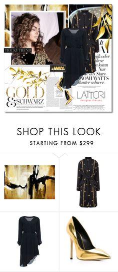 """The golden touch - Lattori.com"" by undici ❤ liked on Polyvore featuring Leftbank Art, MICHEL KLEIN, Lattori and Giuseppe Zanotti"
