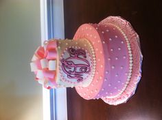 Monogram 75th birthday cake