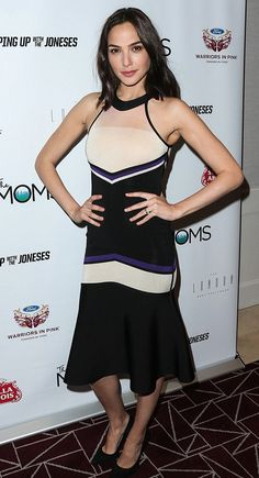 Gal Gadot wearing David Koma at the Keeping Up With The Joneses screening in West Hollywood