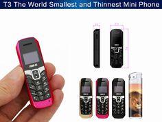 LONG-CZ T3 0.66-inch 500mAh 70mm High Smallest Smart BT Dialer BT Music Mini Card Phone