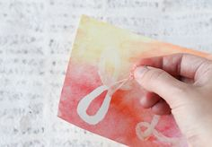 DIY: Watercolor Postcard Save the Dates - Project Wedding