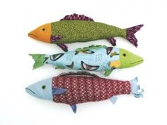 fabric fish. though mine looked more like a dr zeus creature than fish..