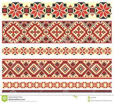 Embroidery Cross-stitch Pattern Royalty Free Stock Photo - Image: 19819095